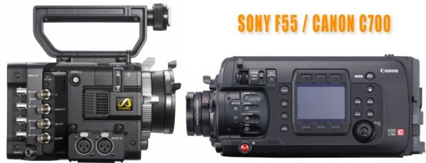 Sony F55 Canon C700