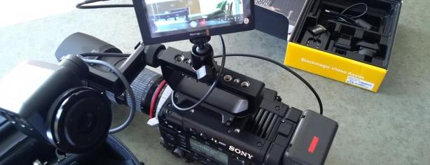 Blackmagic Video Assist Sony F55